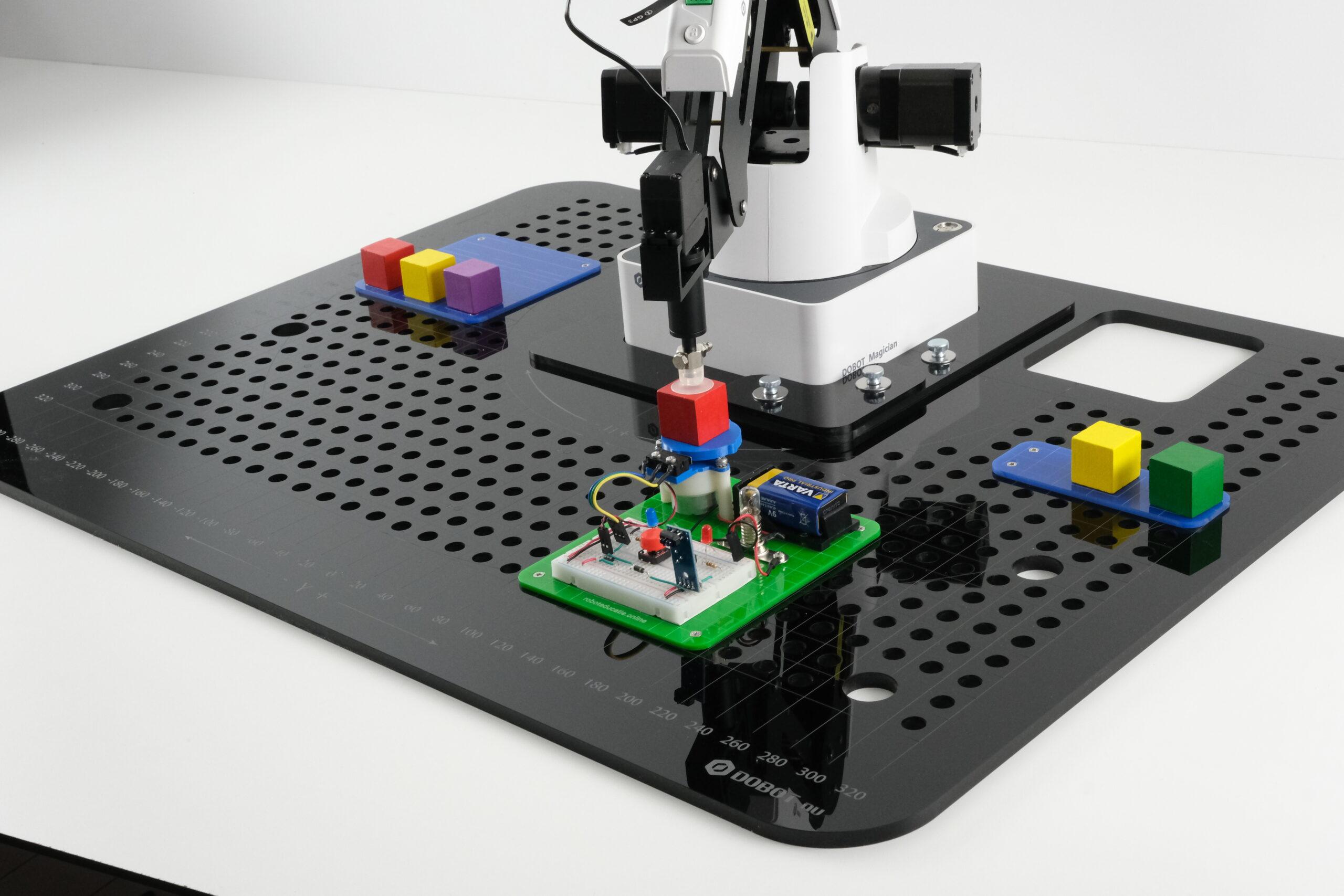 electro kit op het coördinatenbord